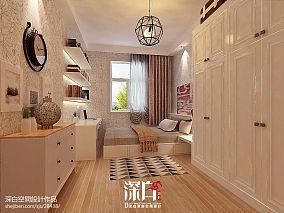 71平米二居卧室混搭装修图片欣赏