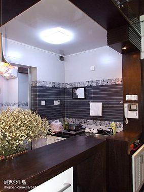 面积90平小户型厨房混搭装修图片欣赏