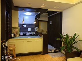 热门面积74平小户型餐厅混搭装修图片大全