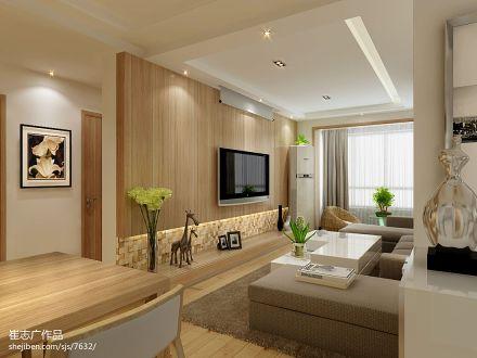 精美面积85平现代二居客厅效果图片