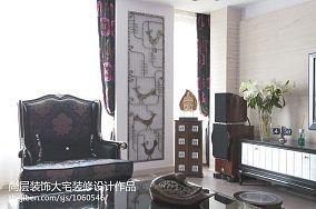 田园家居装客厅沙发相片墙设计