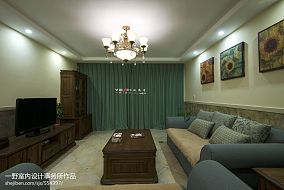 玫瑰湾休闲美式客厅装修效果图客厅1图潮流混搭设计图片赏析