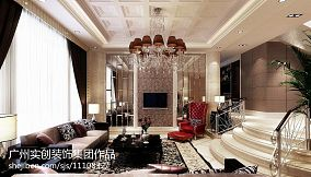 美式风格110平米三室两厅装修图片大全