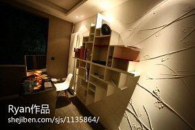 精选80平米混搭小户型书房欣赏图片