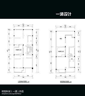 大方2室1厅平面图