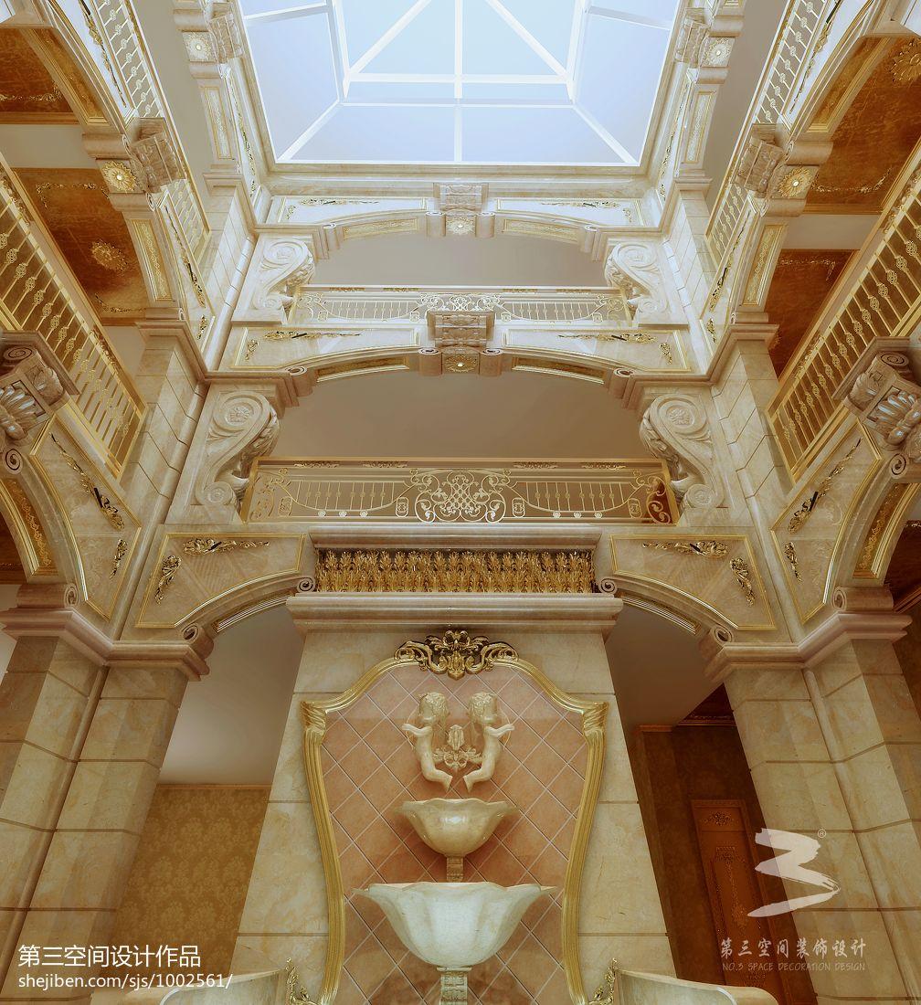 宫庭人家(别墅-欧式)客厅潮流混搭客厅设计图片赏析