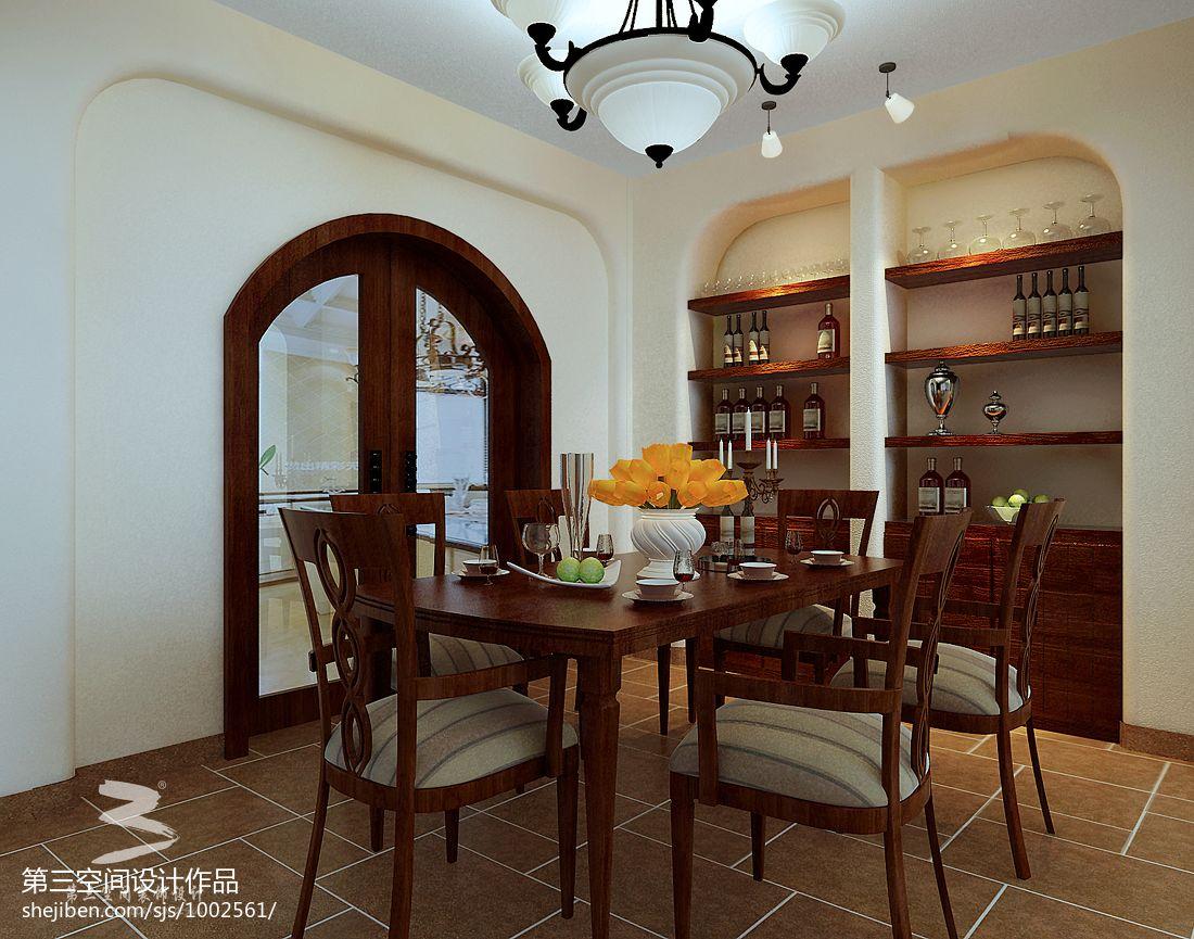 精致533平混搭别墅餐厅装潢图厨房潮流混搭餐厅设计图片赏析