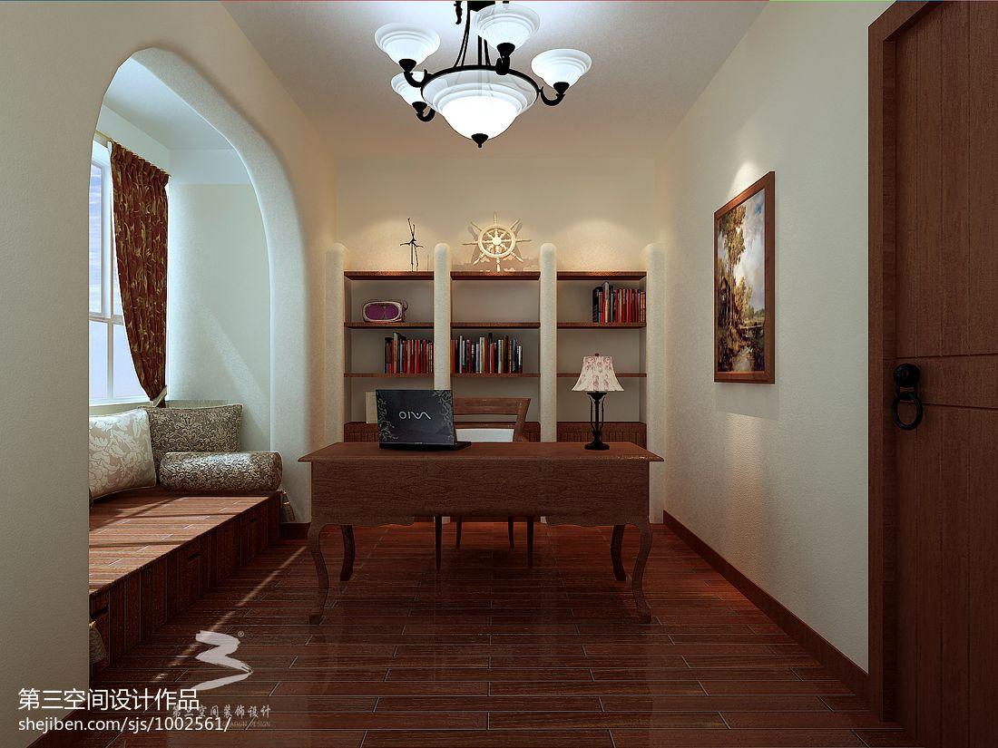 平混搭别墅书房装饰美图功能区潮流混搭功能区设计图片赏析