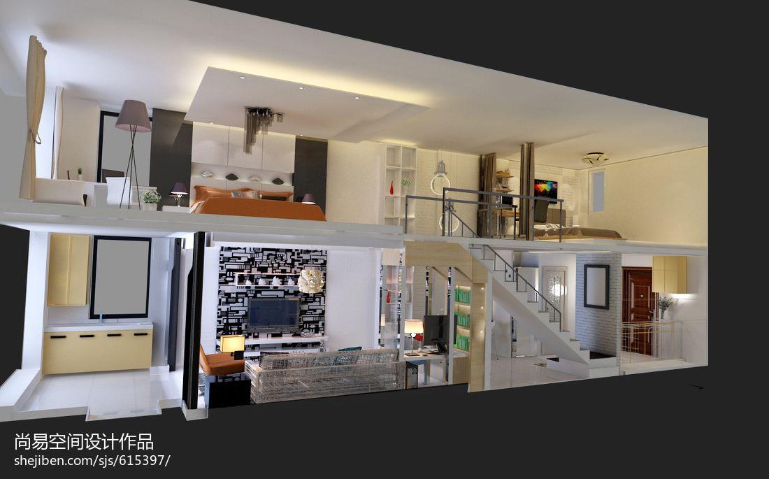 明亮324平混搭样板间客厅设计案例客厅潮流混搭客厅设计图片赏析