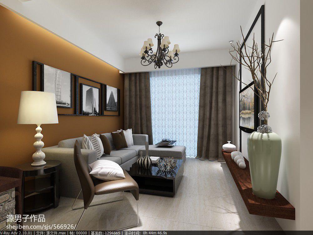 梧州简约风格家装设计客厅潮流混搭客厅设计图片赏析