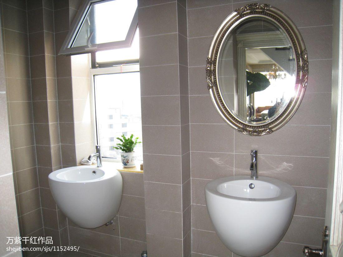 华丽557平混搭别墅卫生间装饰美图卫生间潮流混搭卫生间设计图片赏析