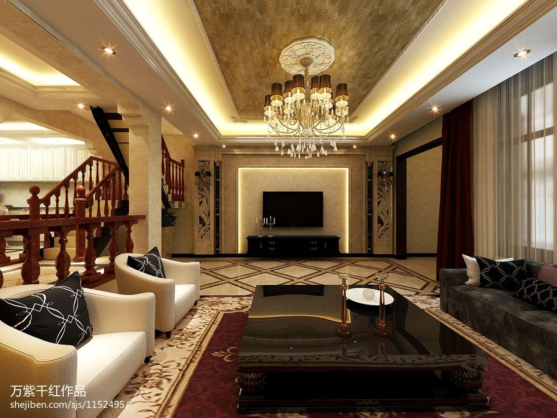 精致319平混搭别墅客厅效果图片大全客厅潮流混搭客厅设计图片赏析
