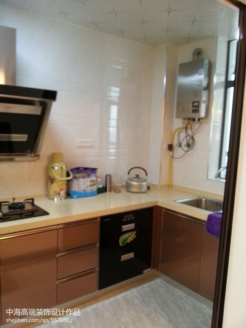 热门面积127平混搭四居厨房实景图片欣赏餐厅潮流混搭厨房设计图片赏析