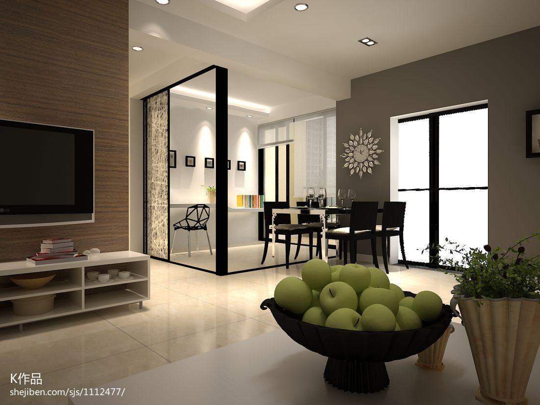 精美103平米三居混搭装修效果图客厅潮流混搭客厅设计图片赏析