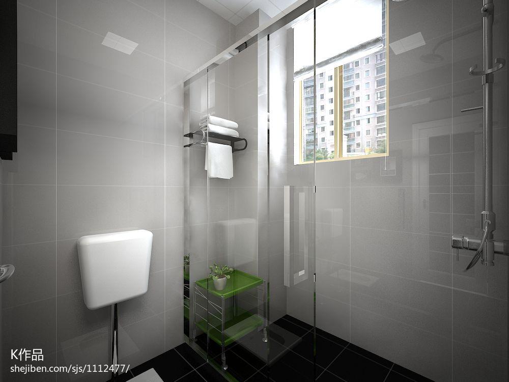 精美面积91平混搭三居卫生间装修欣赏图卫生间潮流混搭卫生间设计图片赏析