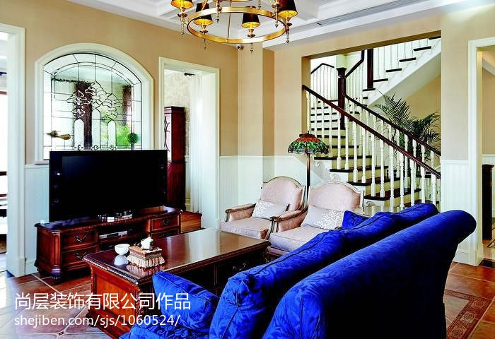 明亮720平混搭别墅客厅案例图客厅潮流混搭客厅设计图片赏析
