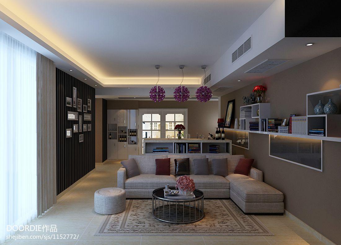 合肥小区1客厅潮流混搭客厅设计图片赏析