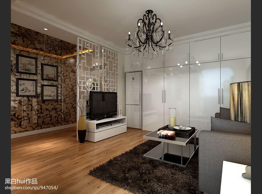 热门大小89平混搭二居客厅装饰图客厅潮流混搭客厅设计图片赏析
