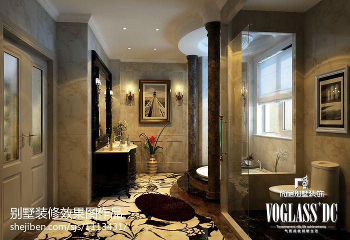 平米混搭别墅卫生间效果图片欣赏卫生间潮流混搭卫生间设计图片赏析