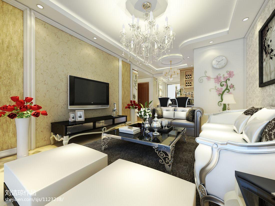 御园94m²简装婚房客厅潮流混搭客厅设计图片赏析
