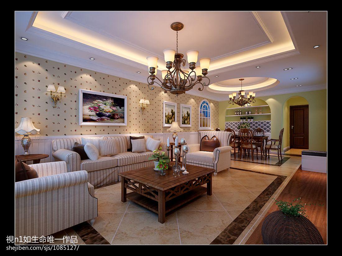 质朴98平混搭三居客厅效果图欣赏客厅潮流混搭客厅设计图片赏析