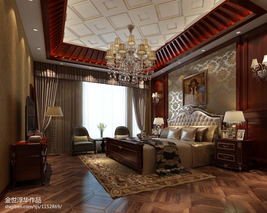 热门大小139平别墅卧室混搭欣赏图卧室潮流混搭卧室设计图片赏析
