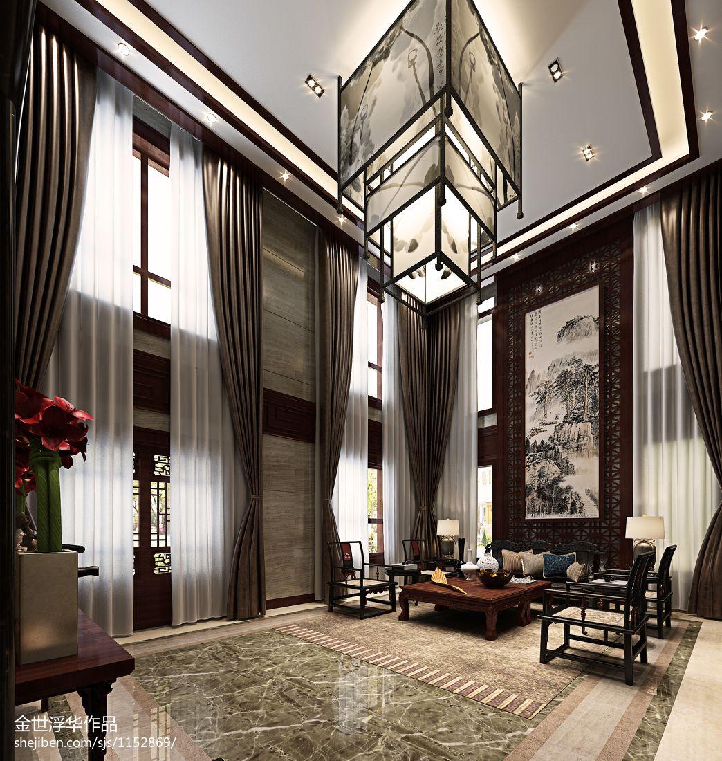 2018精选117平米混搭别墅客厅效果图片客厅潮流混搭客厅设计图片赏析