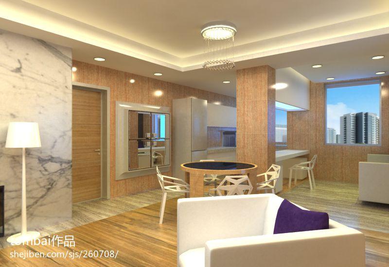 华丽83平混搭二居餐厅装饰美图厨房潮流混搭餐厅设计图片赏析