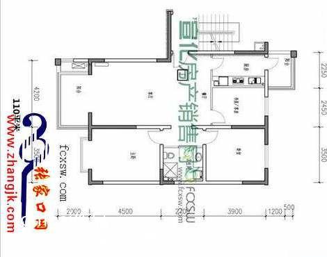 宣化光大新天地110㎡户型客厅潮流混搭客厅设计图片赏析