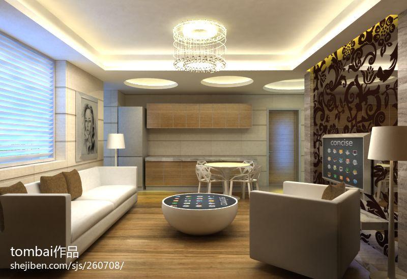 优雅78平混搭二居客厅图片大全客厅潮流混搭客厅设计图片赏析