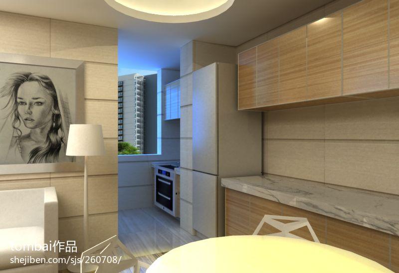 精美80平米二居餐厅混搭欣赏图厨房潮流混搭餐厅设计图片赏析