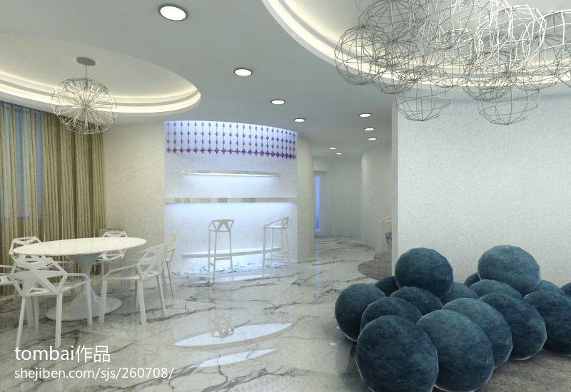 优雅70平混搭三居餐厅案例图厨房潮流混搭餐厅设计图片赏析