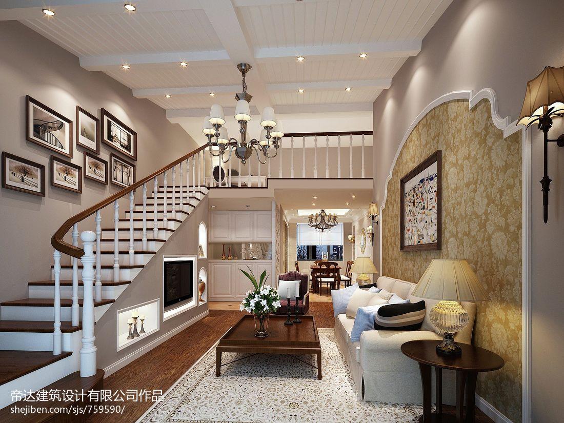 2018精选135平米混搭复式客厅效果图片大全客厅潮流混搭客厅设计图片赏析