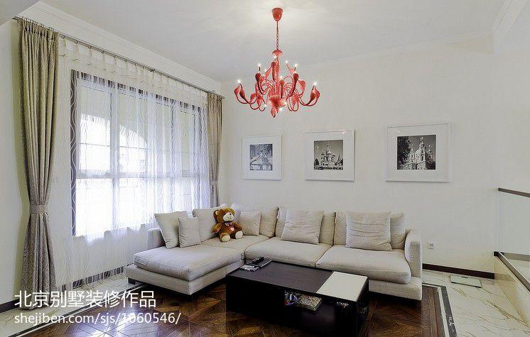 精美115平方混搭别墅客厅装饰图片大全客厅潮流混搭客厅设计图片赏析