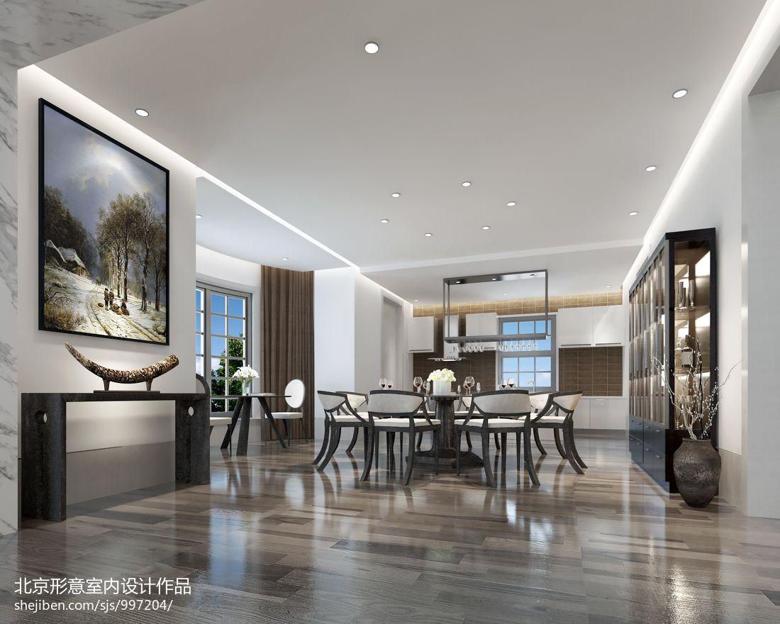 热门面积137平别墅餐厅混搭装修欣赏图潮流混搭设计图片赏析
