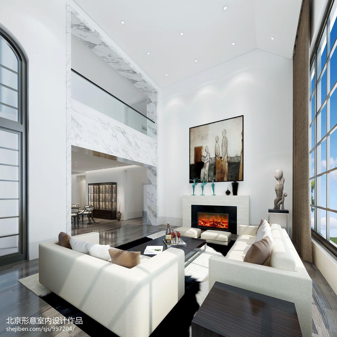 139平米混搭别墅客厅装修实景图片客厅潮流混搭客厅设计图片赏析