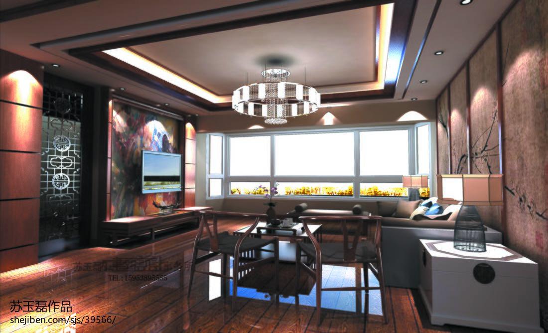 大气94平混搭四居客厅装修美图潮流混搭设计图片赏析