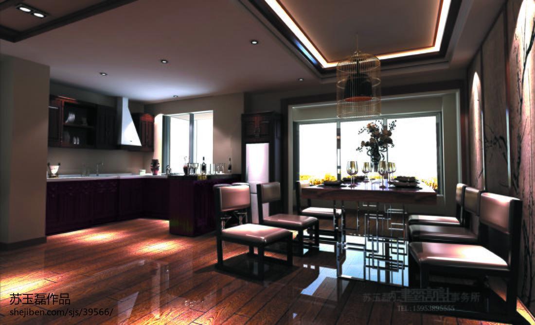 悠雅139平混搭四居餐厅设计美图厨房潮流混搭餐厅设计图片赏析