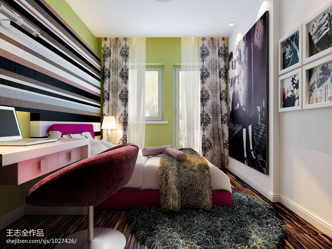 大气638平混搭别墅儿童房装修美图卧室潮流混搭卧室设计图片赏析