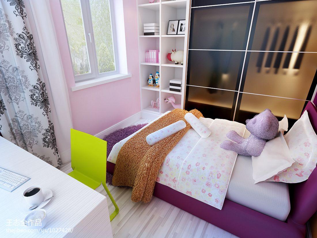 精选112平米混搭别墅儿童房装修图卧室潮流混搭卧室设计图片赏析