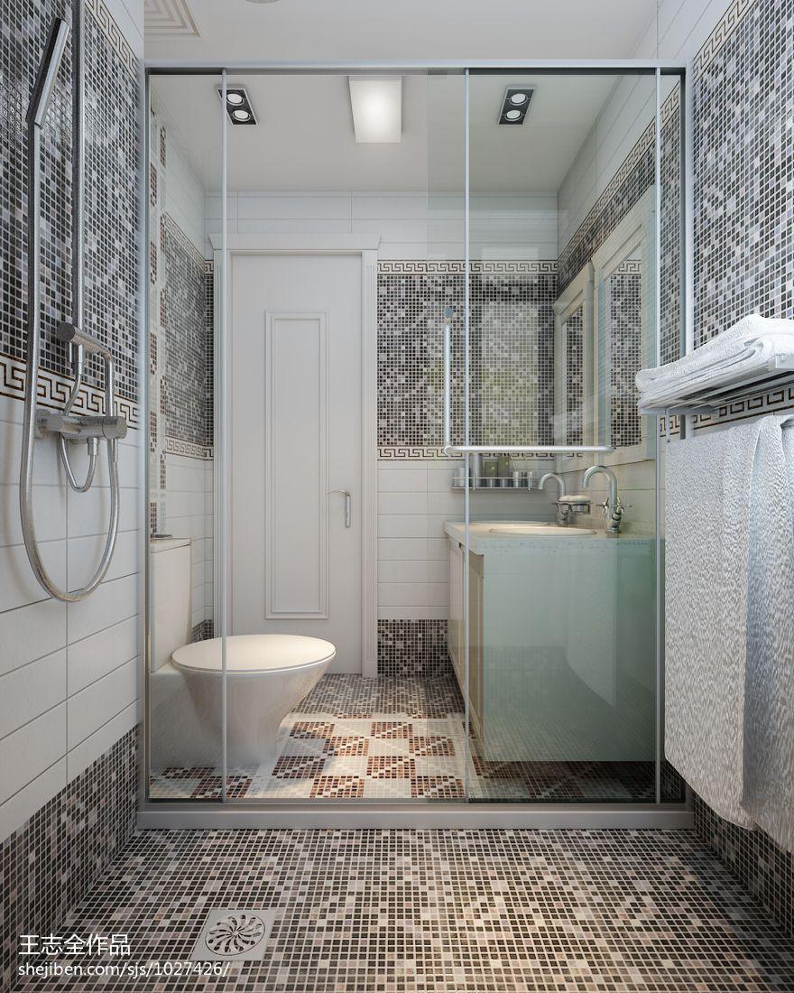 热门混搭别墅卫生间装修图片卫生间潮流混搭卫生间设计图片赏析
