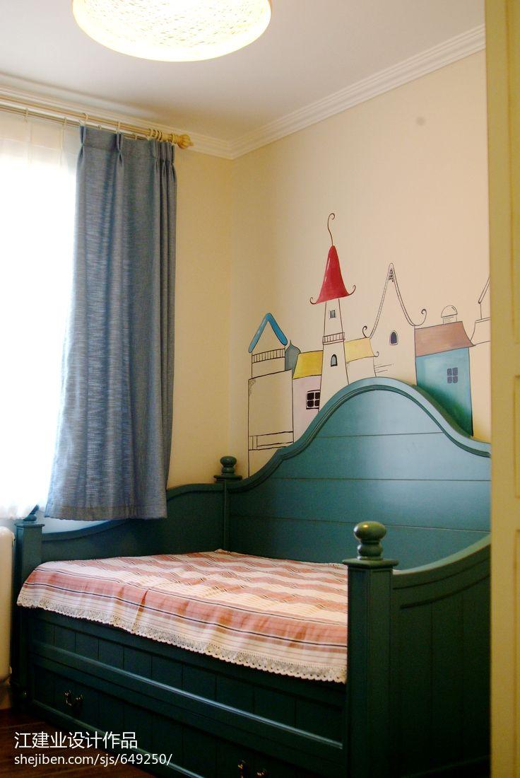 热门混搭二居儿童房装修欣赏图片大全卧室潮流混搭卧室设计图片赏析