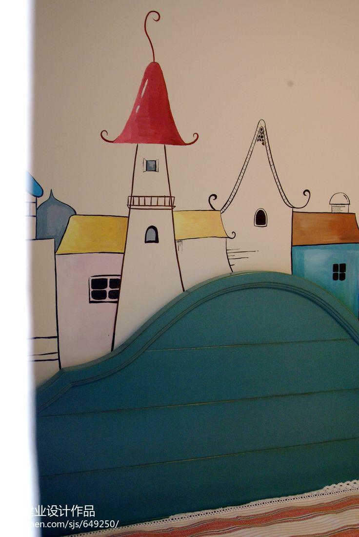 明亮75平混搭二居儿童房装修图卧室潮流混搭卧室设计图片赏析