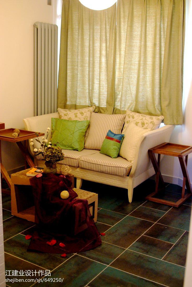 面积82平混搭二居客厅效果图客厅潮流混搭客厅设计图片赏析