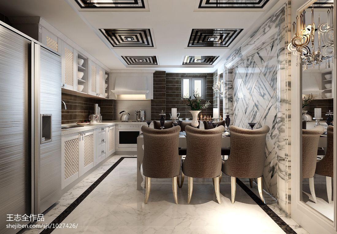 热门面积125平别墅餐厅混搭设计效果图厨房潮流混搭餐厅设计图片赏析