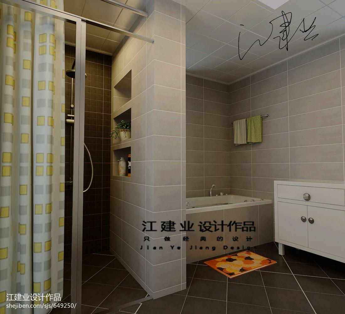 悠雅71平混搭复式卫生间装饰美图卫生间潮流混搭卫生间设计图片赏析