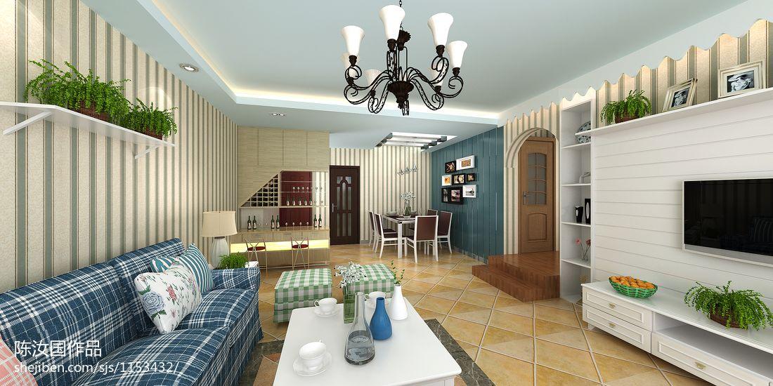 温馨105平混搭三居客厅设计效果图客厅潮流混搭客厅设计图片赏析