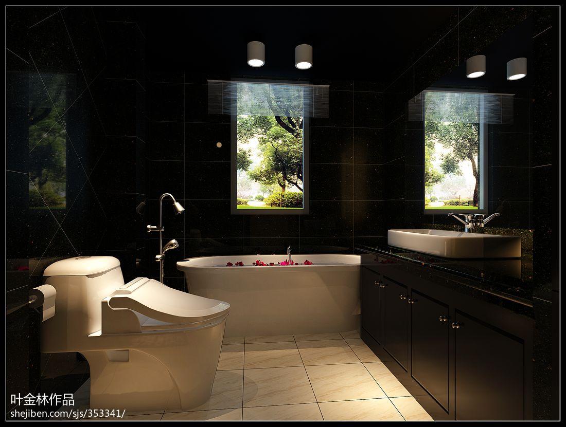 优雅80平现代复式卫生间装修案例卫生间现代简约卫生间设计图片赏析