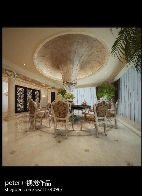 精选114平米混搭别墅餐厅装修效果图厨房潮流混搭餐厅设计图片赏析