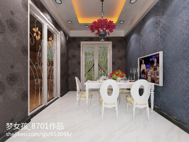 华丽85平混搭三居餐厅装修案例厨房潮流混搭餐厅设计图片赏析